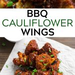 pinterest collage of bbq cauliflower wings