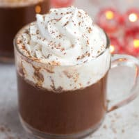 square image of hot chocolate
