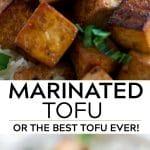pinterest collage of marinated tofu