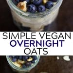 pinterest collage of vegan overnight oats