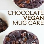 pinterest collage of vegan mug cake