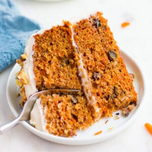 square image of carrot cake