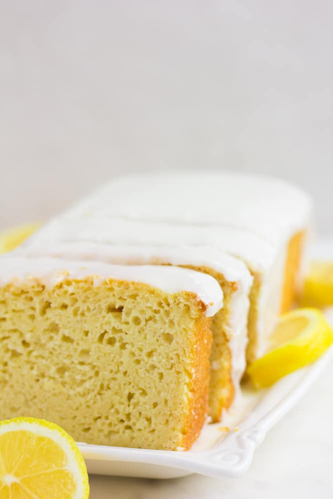 sliced lemon loaf cake