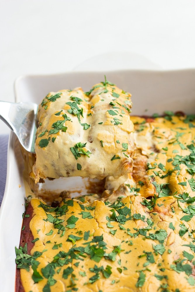 The Best Vegan Enchiladas Nora Cooks