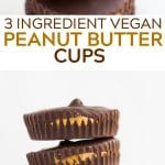 pinterest image with text for vegan peanut butter cups