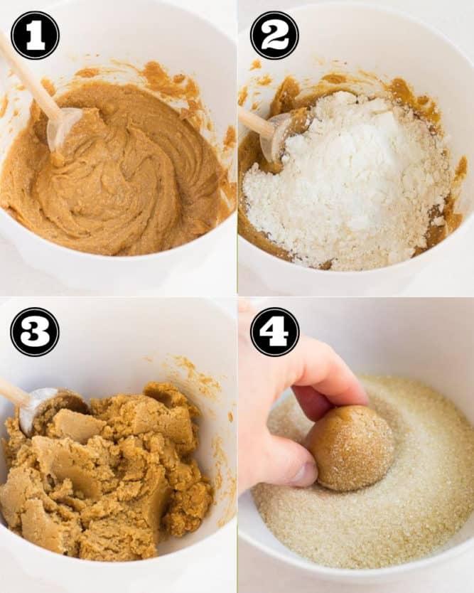 collage of how to make cookies with peanut butter