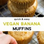 vegan banana muffins pinterest image