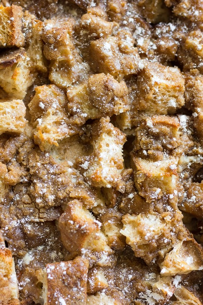 super close up french toast casserole