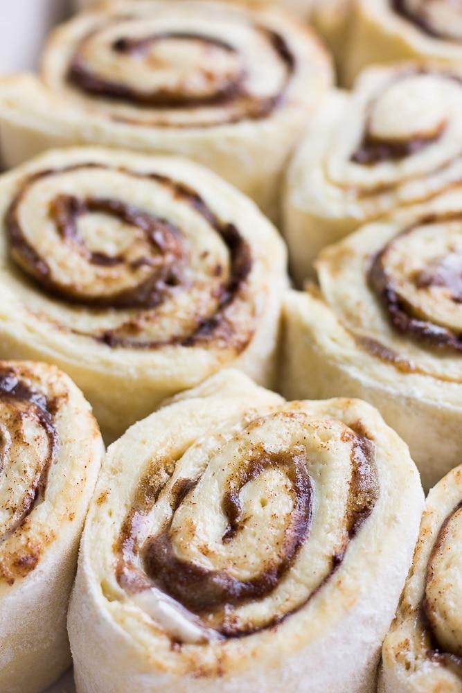 uncooked vegan cinnamon rolls