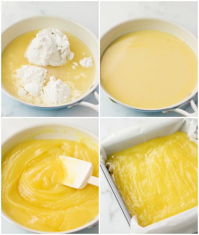 collage showing how to make lemon bars vegan