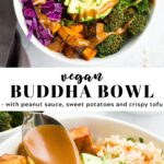 Pinterest collage of vegan buddha bowl