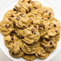 square image of cookies on plate