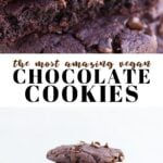 Pinterest collage of chocolate cookies with text