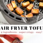 Pinterest collage of air fryer tofu