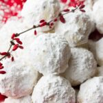 lots of vegan snowball cookies