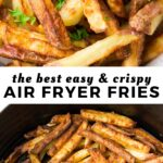 pinterest image of air fryer fries with text