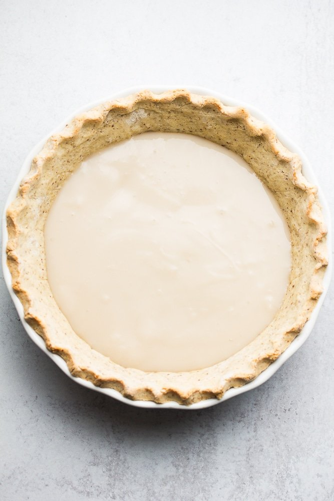 pie crust with a creamy custard