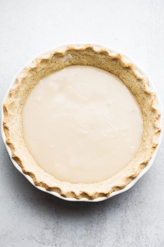 pie crust with a creamy custard