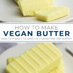 pinterest collage of butter with text