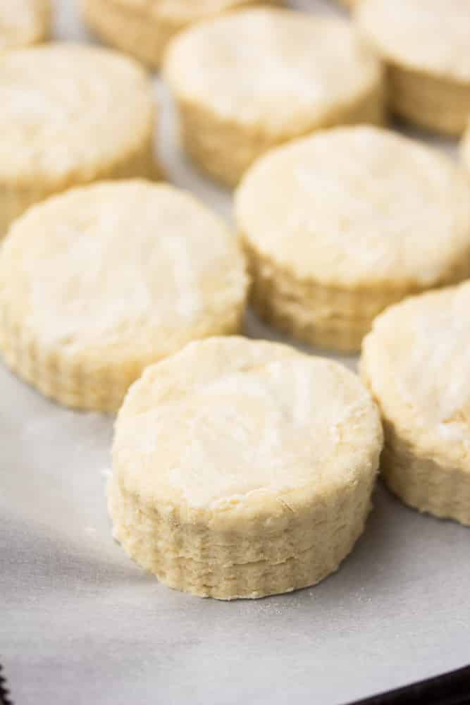 a close up of a group of biscuits