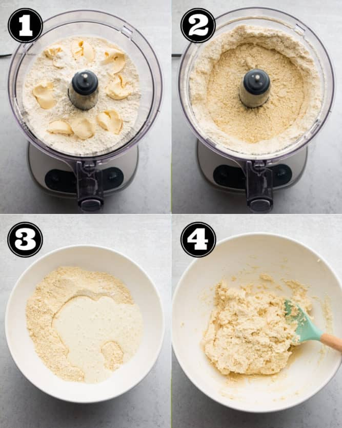 collage of how to make buttermilk biscuits