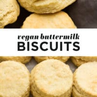 pinterest collage of vegan buttermilk biscuits with text