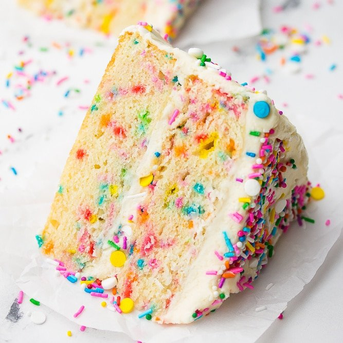 square image of cake slice