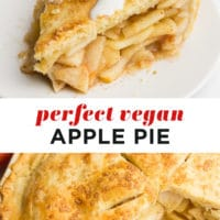 Pinterest collage with text of apple pie