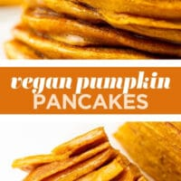 pinterest collage with text of pumpkin pancakes