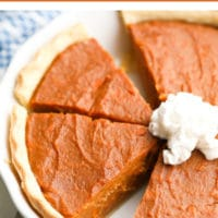 Pinterest image with text vegan sweet potato pie