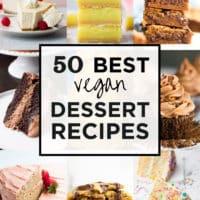 square collage of best vegan desserts