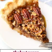 pinterest collage with text overlay for pecan pie that is vegan