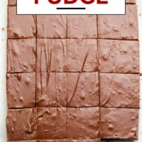 Pinterest image with text for fudge that is also vegan
