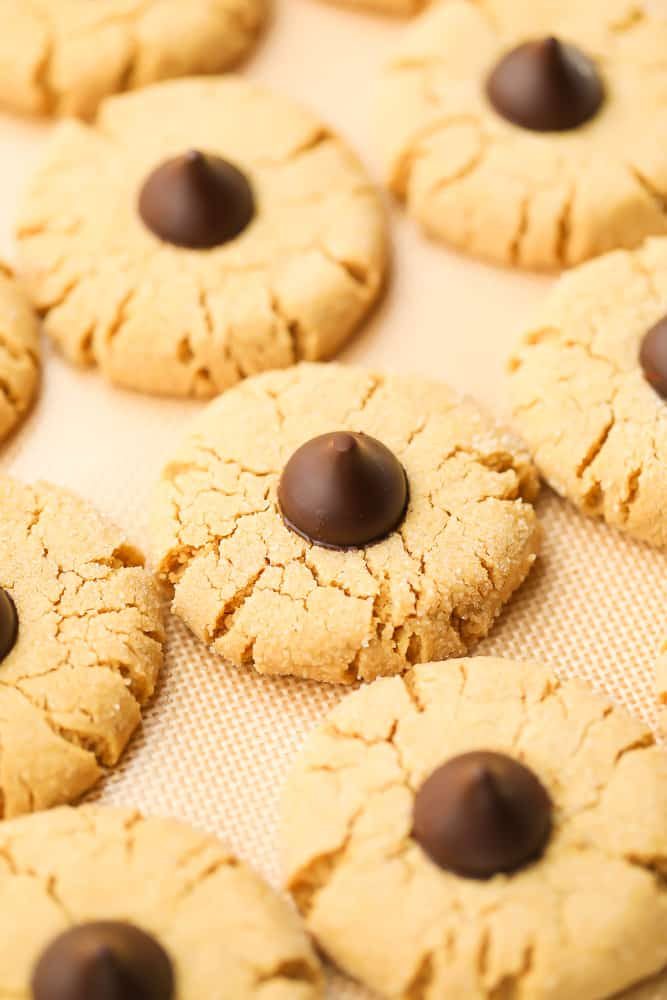 cookies on a baking sheet