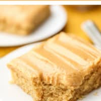 Pinterest collage with text for peanut butter cake