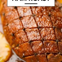 Pinterest image with text box for vegan ham roast