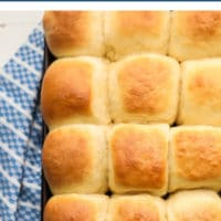 Pinterest collage/image with text of dinner rolls that are vegan