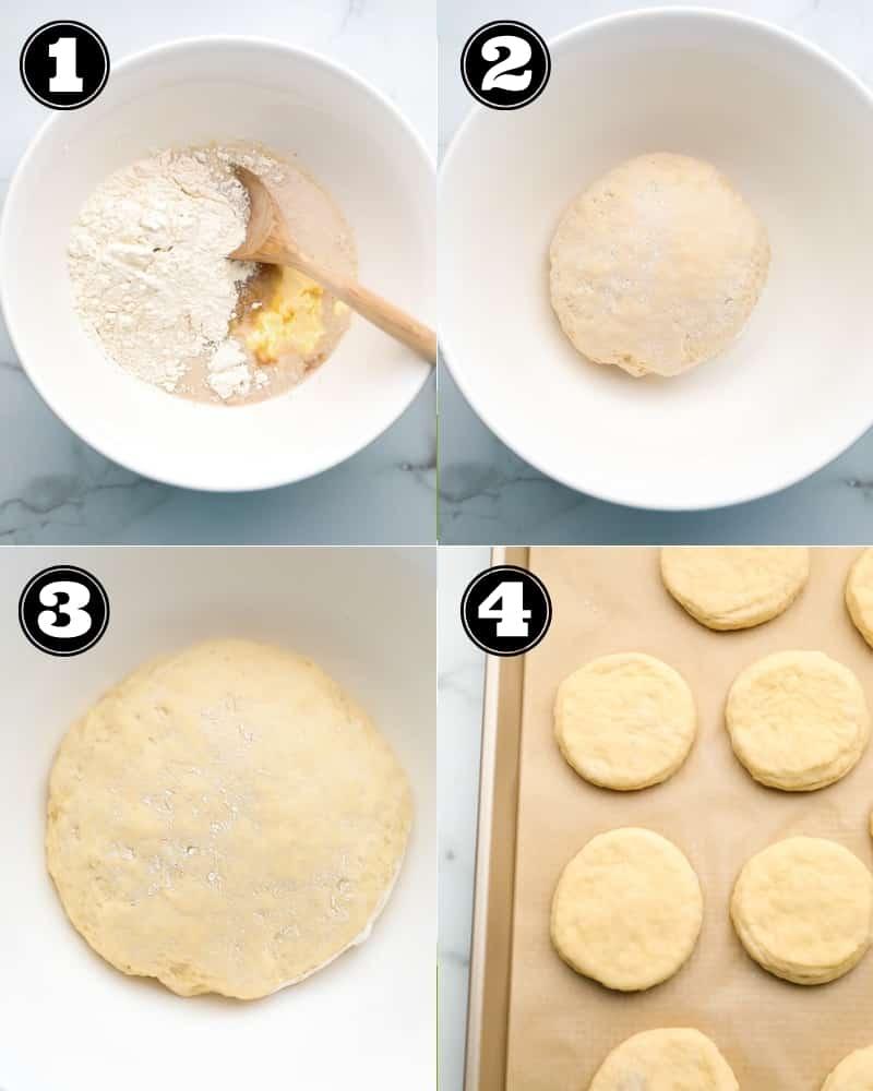 collage of how to make vegan boston creams