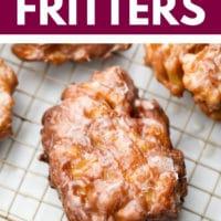 apple fritter recipe pinterest image