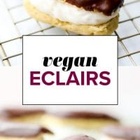 vegan eclairs pinterest collage