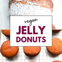 Pinterest collage with text for jelly donuts