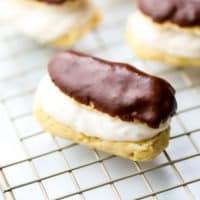 square image of an eclair, more in back