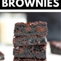 Pinterest collage with text box for brownies that are gluten free