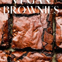Pinterest image with text overlay reading ultra fudgy vegan brownies