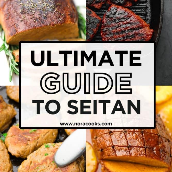 square image collage for ultimate guide to seitan