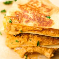 square image of quesadillas